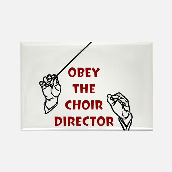 Obey the Choir Director Rectangle Magnet (10 pack)