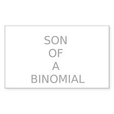 SON OF A BINOMIAL Rectangle Sticker 10 pk)