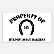 My Byelorussian Harness Rectangle Decal