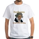 Beethoven Bling White T-Shirt
