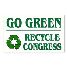 Go Green Recycle Congress - Rectangle Decal
