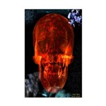 Bright Red Skull Mini Poster Print