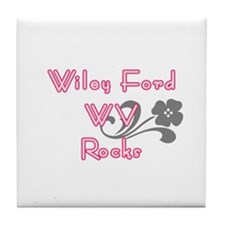 Cute Coed baby shower Tile Coaster