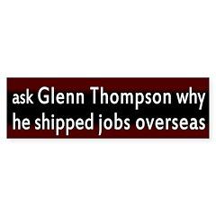 Glenn Thompson and Jobs Bumper Bumper Sticker