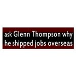 Glenn Thompson and Jobs Bumper Sticker