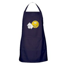 Postal Smiley Face Apron (dark)