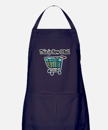 How I Roll (Shopping Cart) Apron (dark)