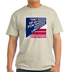 LIBERTY VS. SECURITY Ash Grey T-Shirt