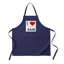 I love hair Apron (dark)