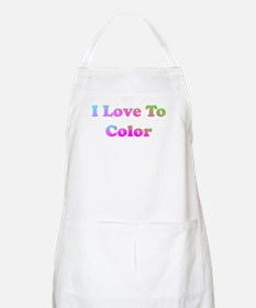I love to color Apron