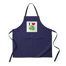 I Heart (Love) Lettuce Apron (dark)