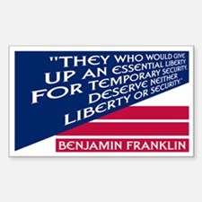 LIBERTY VS. SECURITY Rectangle Decal