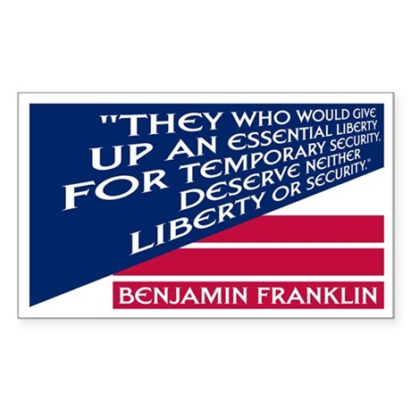 LIBERTY VS. SECURITY Rectangle Sticker