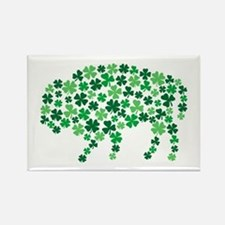 Irish Buffalo Rectangle Magnet