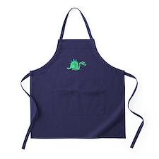 Goofy Green Stegasaurus Apron (dark)