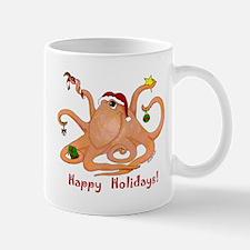 Christmas Octopus Mug