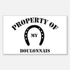 My Boulonnais Rectangle Decal