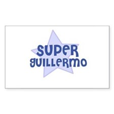 Super Guillermo Rectangle Decal