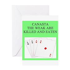 canasta player Greeting Card