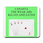 canasta player Mousepad
