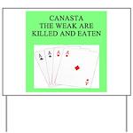 canasta player Yard Sign