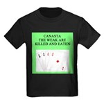 canasta player Kids Dark T-Shirt