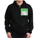 canasta player Zip Hoodie (dark)