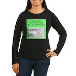 canasta player Women's Long Sleeve Dark T-Shirt
