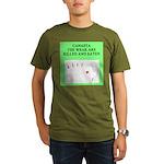 canasta player Organic Men's T-Shirt (dark)