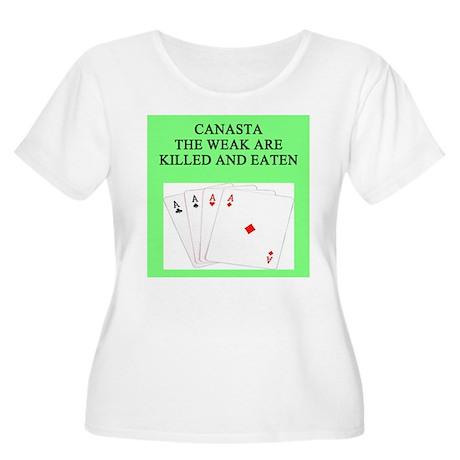 canasta player Women's Plus Size Scoop Neck T-Shir