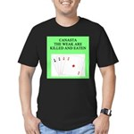 canasta player Men's Fitted T-Shirt (dark)