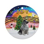 Xmas Music 2 - Keeshond Ornament (Round)