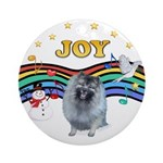 XmasMusic1 - Keeshond (F) Ornament (Round)