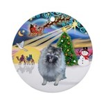 Xmas Magic - Keeshond (F) Ornament (Round)
