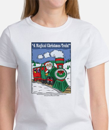 A Magical Christmas Train Women's T-Shirt