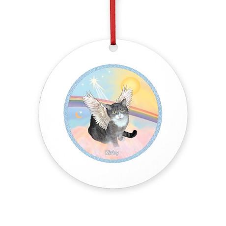 Cat Angel Kirby Ornament (Round)