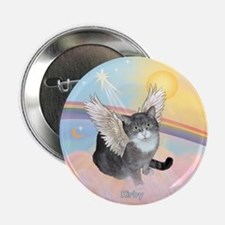 "Cat Angel Kirby 2.25"" Button"