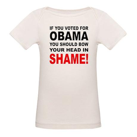 OBAMA SHAME Organic Baby T-Shirt