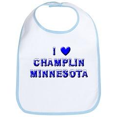 I Love Champlin Winter Bib