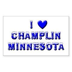 I Love Champlin Winter Rectangle Sticker 50 pk)