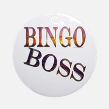 Bingo Boss Engrave MT Ornament (Round)
