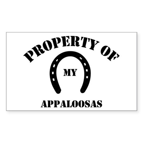 My Appaloosas Rectangle Sticker