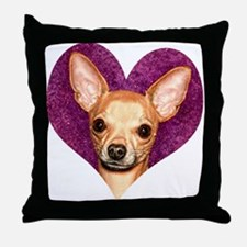 Chihuahua Heart Throw Pillow