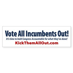 Vote Out All Incumbents Sticker 50 pk