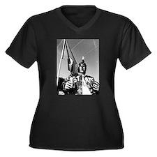 Funny Michigan state spartans Women's Plus Size V-Neck Dark T-Shirt
