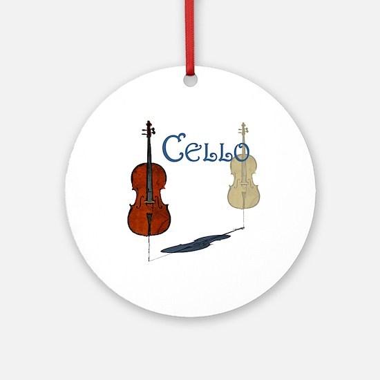 Cello Ornament (Round)