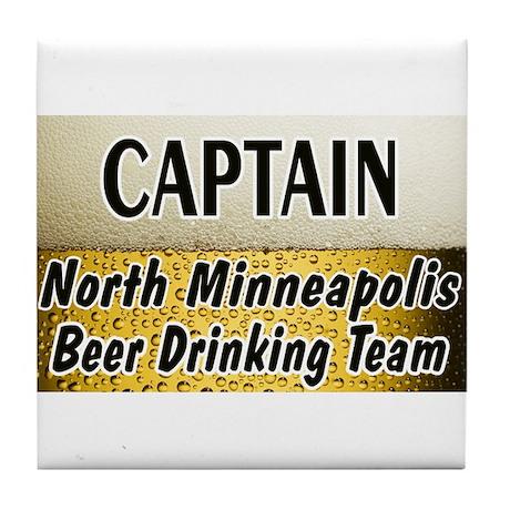 North Minneapolis Beer Drinking Team Tile Coaster
