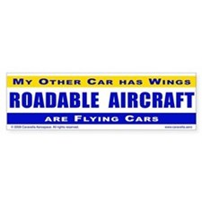 Other car has wings - Bumper Sticker