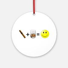 Cigar & Bourbon Ornament (Round)