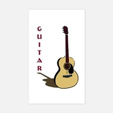 Guitar Rectangle Decal